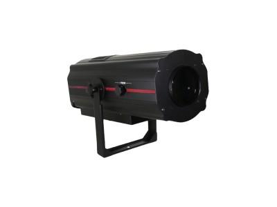Прожектор следящего света. DL LED 350W White,  колесо цвета: 5 цветов + открытый, колесо коррекции цветовой температуры: 3200K/4500K/6500K/8500K, фокус: ручной. Стробирование: 1-11 вспышек в секунду. Вес: 12 кг. Размер: 600х220х220 мм.