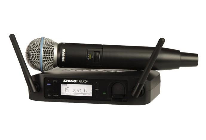 SHURE GLXD24E/B58 Z2 2.4 GHz цифровая вокальная радиосистема с капсюлем BETA 58