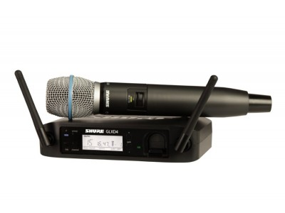 SHURE GLXD24E/B87A Z2 2.4 GHz цифровая вокальная радиосистема с капсюлем микрофона BETA 87
